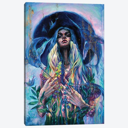 The Rustle Of Narwhal's Wings Canvas Print #TSH37} by Tanya Shatseva Canvas Artwork