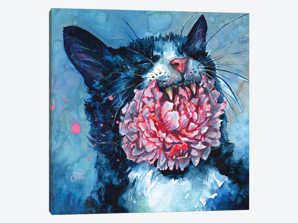 Yawn by Tanya Shatseva 1-piece Canvas Print