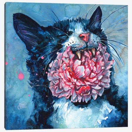 Yawn Canvas Print #TSH39} by Tanya Shatseva Art Print