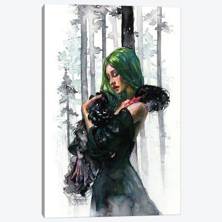 Black Swan Feelings Canvas Print #TSH40} by Tanya Shatseva Canvas Wall Art