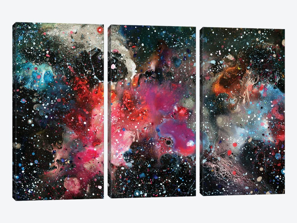Chemistry Of Nothing by Tanya Shatseva 3-piece Canvas Art