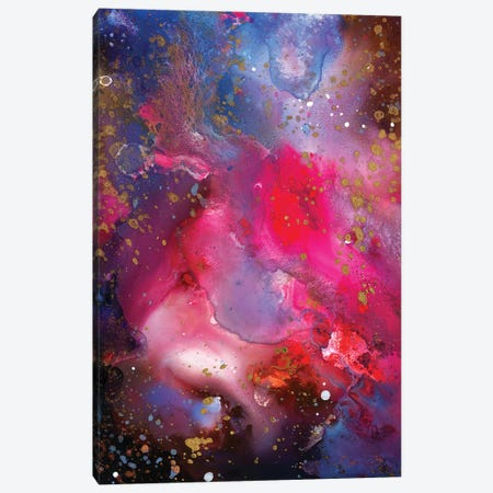 Rose Crystal Galaxy Canvas Print #TSH48} by Tanya Shatseva Canvas Artwork