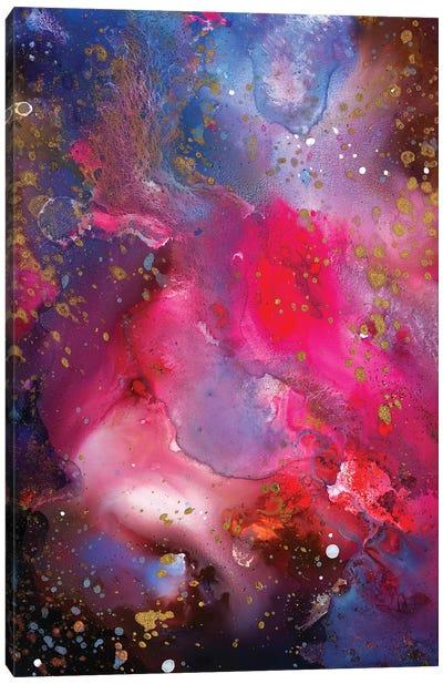 Rose Crystal Galaxy Canvas Art Print