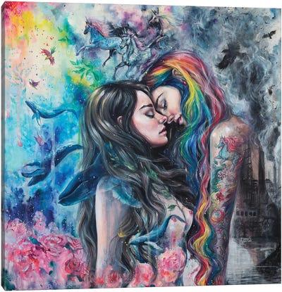 Colorful Me Canvas Art Print