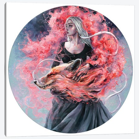 Dragon Fox Canvas Print #TSH54} by Tanya Shatseva Canvas Wall Art