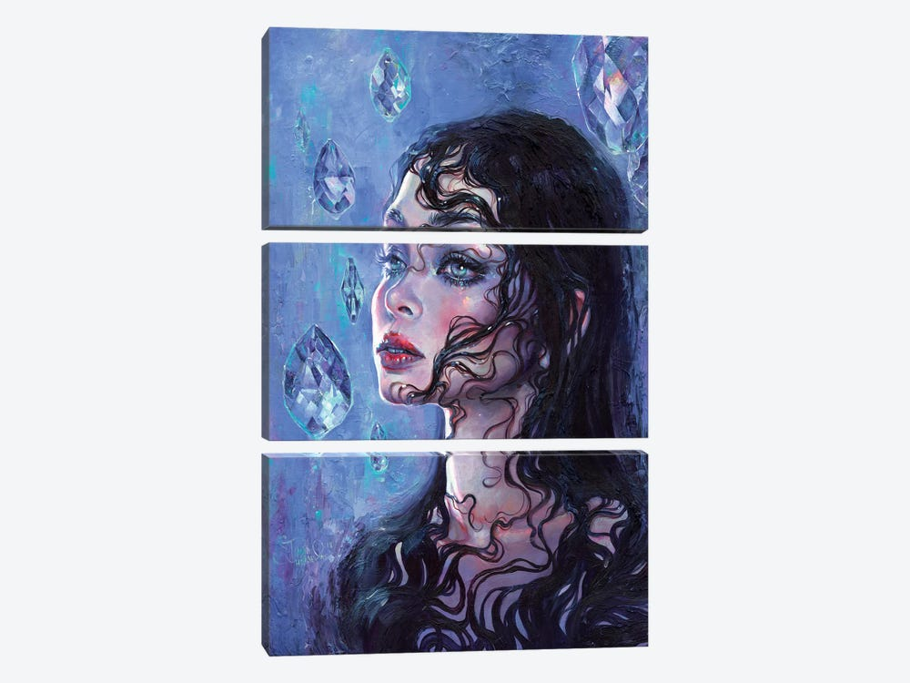 Phantom Rain by Tanya Shatseva 3-piece Canvas Art Print