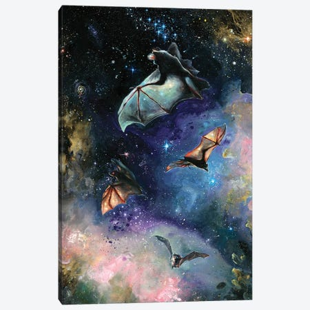 Scream Of A Great Bat Canvas Print #TSH60} by Tanya Shatseva Canvas Wall Art