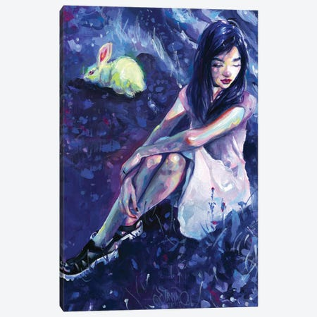 Alice Canvas Print #TSH62} by Tanya Shatseva Canvas Wall Art