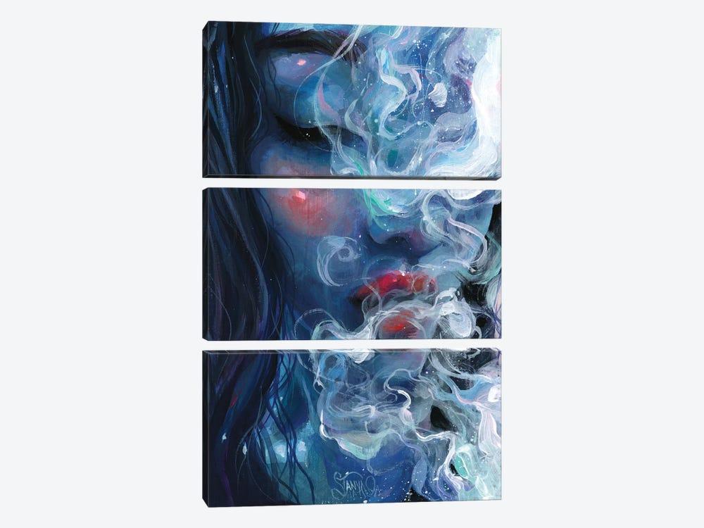Blissful Blue by Tanya Shatseva 3-piece Canvas Art Print
