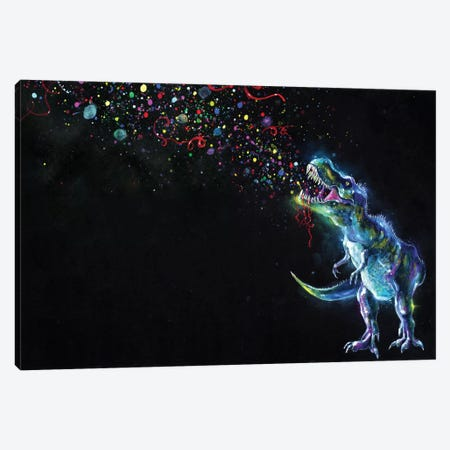 Crystal T-Rex Canvas Print #TSH6} by Tanya Shatseva Canvas Print