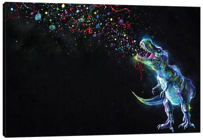 Crystal T-Rex Canvas Art Print
