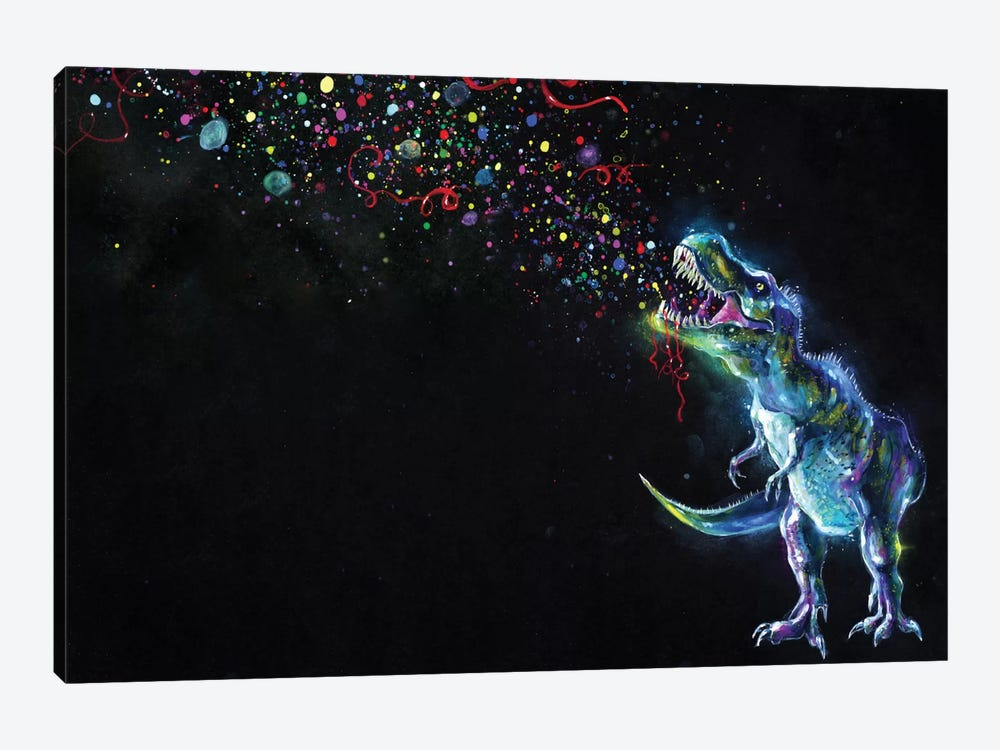 Crystal T-Rex by Tanya Shatseva 1-piece Canvas Artwork