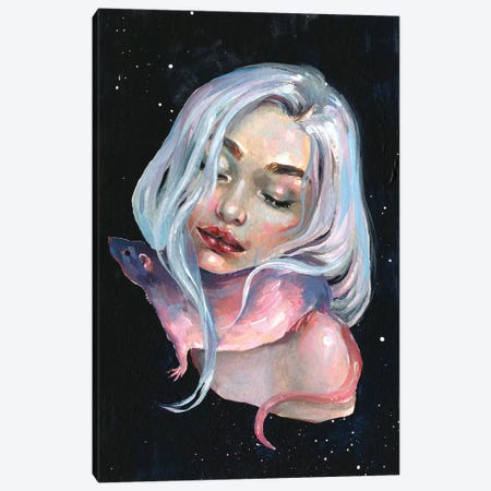 Lunar Tail Canvas Print #TSH74} by Tanya Shatseva Canvas Art