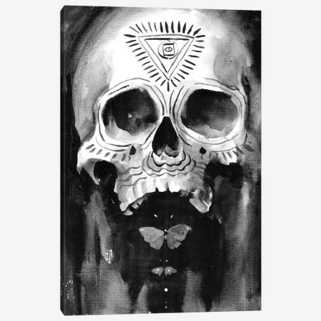 Shamanic Skull Canvas Print #TSH75} by Tanya Shatseva Canvas Wall Art