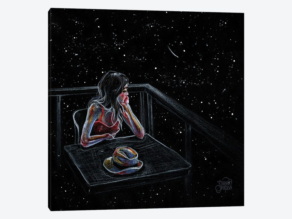 Wait For A Star by Tanya Shatseva 1-piece Canvas Wall Art