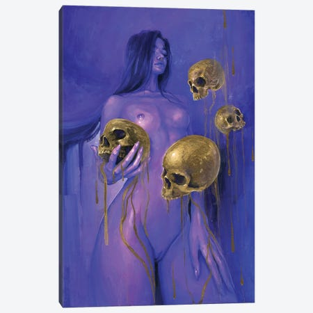 Neon Midas Canvas Print #TSH88} by Tanya Shatseva Canvas Wall Art