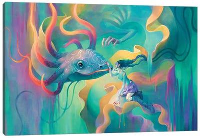 Neodragon Canvas Art Print