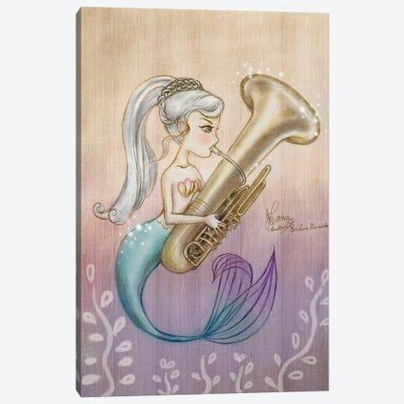 Ste-Anne Mermaid Tubaist Canvas Print #TSI14} by Anastasia Tsai Canvas Art Print