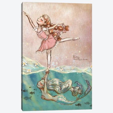 Ste-Anne Mermaid Daisy Girl Canvas Print #TSI21} by Anastasia Tsai Canvas Print