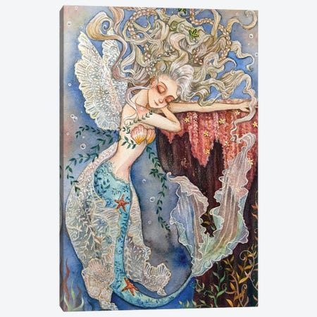 Ste-Anne Mermaid Lace Wings Canvas Print #TSI29} by Anastasia Tsai Canvas Art Print