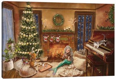 Ste-Anne Mermaid Christmas Canvas Art Print