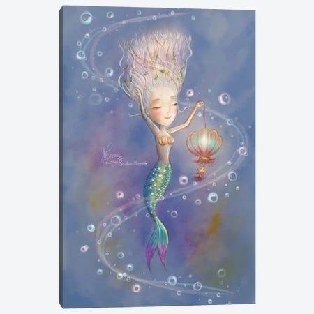 Ste-Anne Mermaid Dancing With Lantern Canvas Print #TSI34} by Anastasia Tsai Canvas Art Print