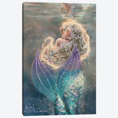 Ste-Anne Mermaid Under The Water Canvas Print #TSI36} by Anastasia Tsai Canvas Art Print