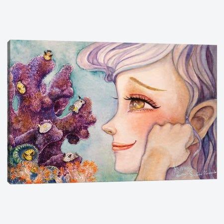 Ste-Anne Mermaid Sea Bunnies Canvas Print #TSI47} by Anastasia Tsai Canvas Wall Art