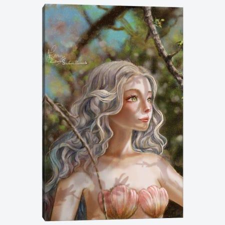 Ste-Anne Mermaid In The Cherry Woods Canvas Print #TSI54} by Anastasia Tsai Art Print