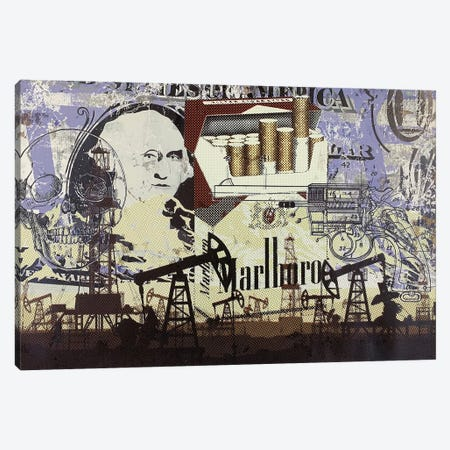 Oil Field Disaster with Cigarettes Canvas Print #TSM108} by Taylor Smith Canvas Artwork