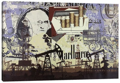 Oil Field Disaster with Cigarettes Canvas Art Print