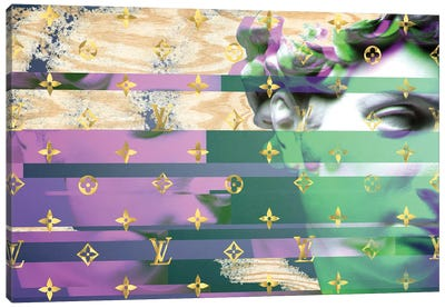 Renaissance Disaster in Purple and Green Canvas Art Print