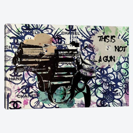 This Is Not A Gun Canvas Print #TSM118} by Taylor Smith Art Print