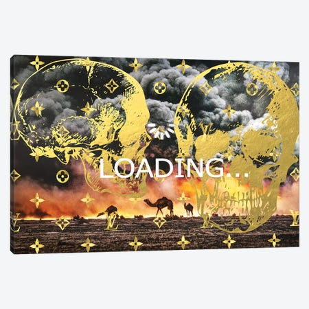 Burning Oil Fields Sponsored By Louis Vuitton Canvas Print #TSM13} by Taylor Smith Canvas Wall Art