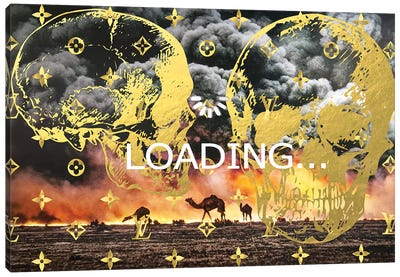 Burning Oil Fields Sponsored By Louis Vuitton Canvas Art Print