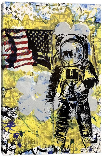 Flower Disaster With MTV Astronaut Canvas Art Print