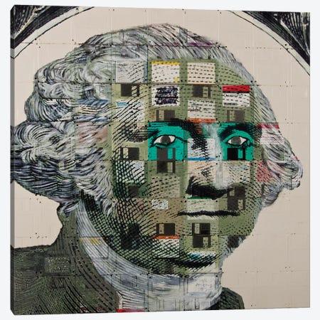 George Washington On Floppy Diskettes Canvas Print #TSM22} by Taylor Smith Art Print