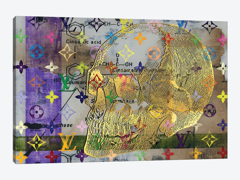 A Certain Chemical Imbalance In Purple Green And Gold by Taylor Smith 1-piece Canvas Art Print