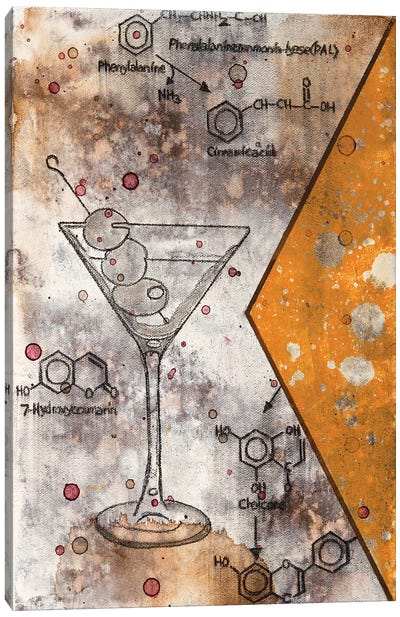 Martini Chemical Reaction Canvas Art Print