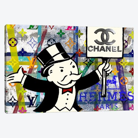 Monopoly Disaster With Chanel Canvas Print #TSM33} by Taylor Smith Canvas Art