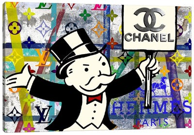 Monopoly Disaster With Chanel Canvas Art Print