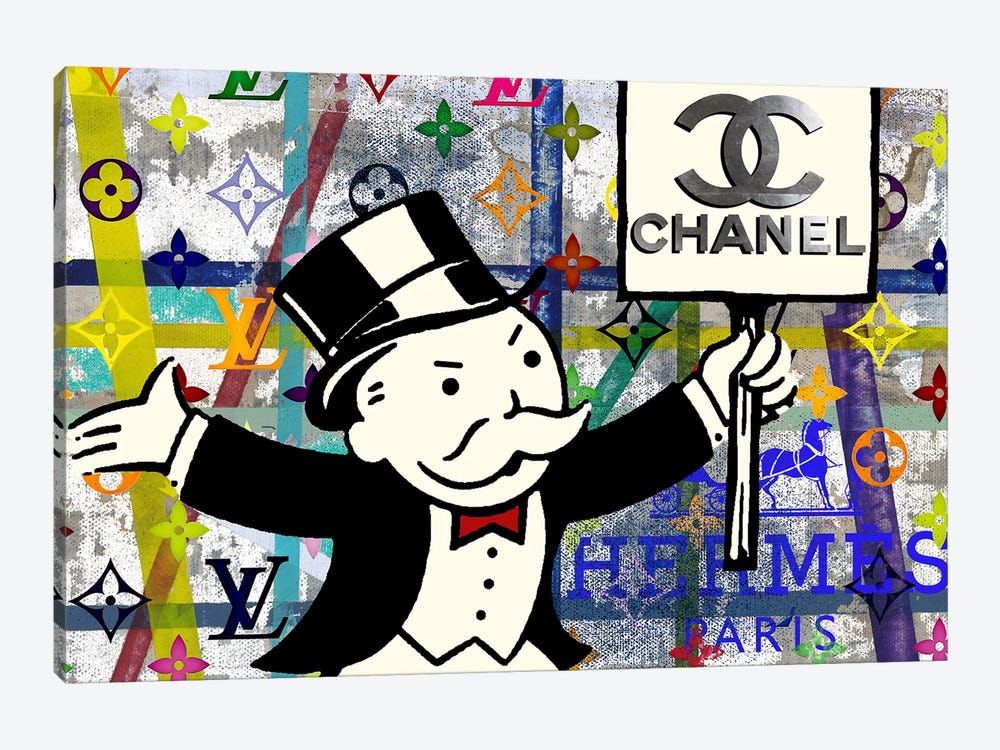 Monopoly Disaster With Chanel by Taylor Smith 1-piece Art Print