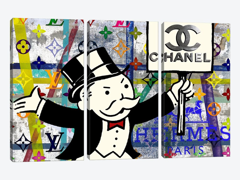 Monopoly Disaster With Chanel by Taylor Smith 3-piece Art Print