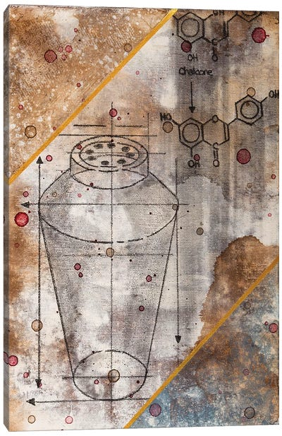 Shaker Chemical Reaction II Canvas Art Print