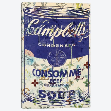Campbells Soup Disaster in Blue Canvas Print #TSM58} by Taylor Smith Canvas Art