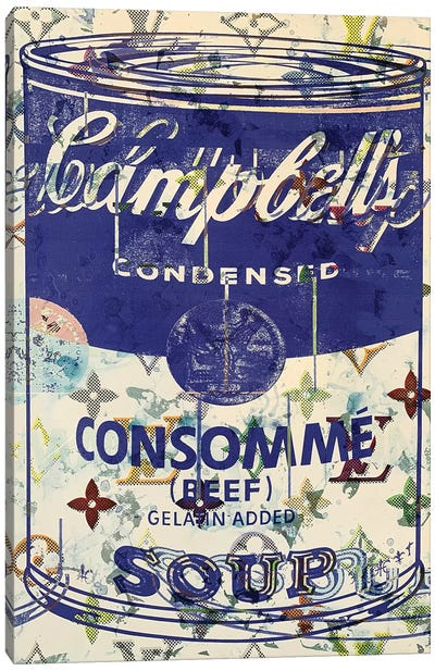 Campbells Soup Disaster in Blue Canvas Art Print