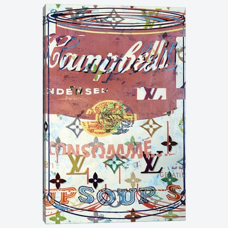 Campbells Soup Disaster in Rose Canvas Print #TSM59} by Taylor Smith Canvas Artwork