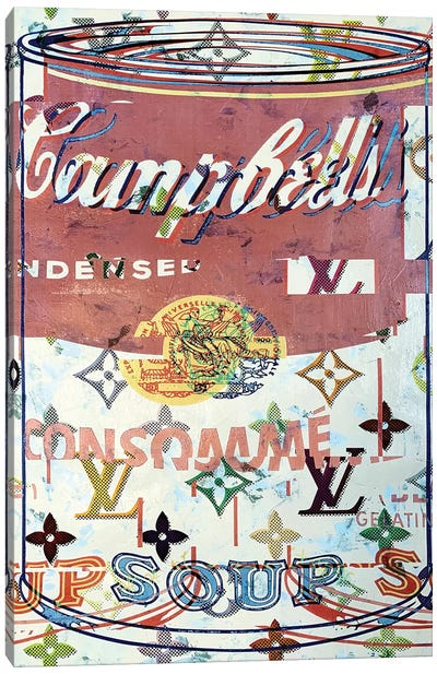 Campbells Soup Disaster in Rose Canvas Art Print