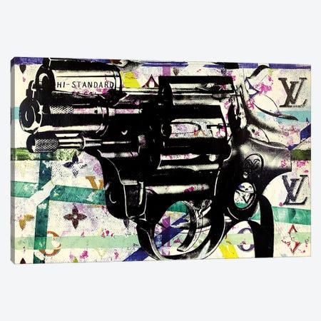 Candy Revolver Gun Disaster Canvas Print #TSM62} by Taylor Smith Canvas Art Print