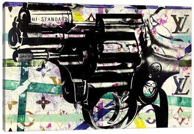 Candy Revolver Gun Disaster Canvas Art Print